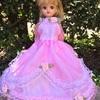 ピンクのお花いっぱいドレス