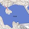 平荘湖(加古川市)の空撮パノラマと行者山の石仏