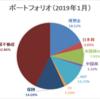 【資産運用】ポートフォリオ更新(2019年1月末時点)