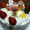 アンパンマンケーキでクリスマス