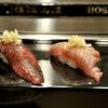 豊洲の「寿司大」でお好み27(鰹2種、いさき、鰯、松川カレイ、目光味噌漬け焼き他)。