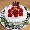 ケーキ型の代わりにティファールの鍋を型にして焼いた、手作りクリスマスケーキ