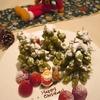 豆腐ドーナツで作るクリスマスツリー