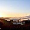新潟県の夜明け朝焼け