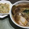 麺喰らう(その 154)半チャン+辛口ラーメン、餃子付き