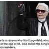 Karl Lagerfeld, forever.