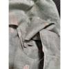 着物生地(290)屋敷に花模様織出し手織り真綿紬