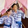日本の浴衣(ゆかた)着る海外人「合法民泊×日本文化×おもてなし」海外リクエスト多い。温泉街 熱海。できることから。