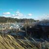 松島の海を垣間見て