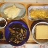 茄子ピーマン豚肉、絹厚揚げ、鱚天ぷら、玉子焼き、ふりかけ