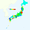 Rate of Deaths from Acute Myocardial Infarction by Prefecture in Japan, 2015