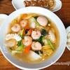 【麺屋Aishin愛心】海鮮エビそば えびプリっ細麺つるつる!旨みがたっぷりのラーメン