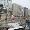 渋谷南口が、すっかり更地!だと思ったら工事始まっていた