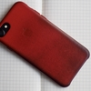 iPhone7レザーケース - (PRODUCT)REDのエイジングと裸使いとキャップレス万年筆マットブラック