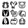 様々な動物の個体数