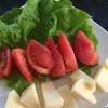 朝は、岐阜のサカエパン、コトハコーヒーと自家野菜で…