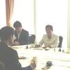 福島市長主催の市内選出県議との朝食会。福島市の課題について懇談。