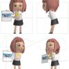 ジト目っ娘にーち ペーパークラフト メイキング(3Dモデリング)