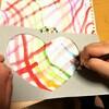 【絵の具遊び】いろんな色の線を描いてみよう