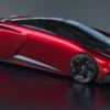 「もしマツダがリアミッドシップのスーパーカーを開発したら・・・」というイラスト。