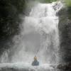 無双洞から流れ出す冷水の水太谷遡行