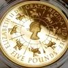 イギリス1993 エリザベス2世戴冠40周年記念5ポンド金貨