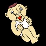 かわいい赤ちゃん のイラスト