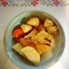 茄子ピーマン豚肉、がんもとじゃがいも煮物、玉子焼き