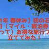 【2021年 春休み】初の石垣島へ 4泊5日(マイル・宿泊券・割引券を使って)お得な旅行プランを立ててみた!