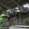 下北半島,或る廃墟のような木造倉庫。