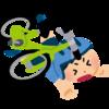 自転車で転倒して憂鬱な休日