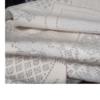 着物生地(299)変わり色紙に花模様織り出し手織り真綿紬