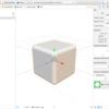 iOS で SceneKit を試す(Swift 3) その21 - ビルトインジオメトリ SCNBox(立方体)