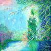 絵: 空気と糸杉の対話
