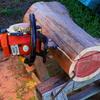 丸太のテーブルを作る