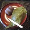 秋の京都「白いさくら餅」