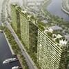 ベトナムの環境都市エコシティ、高層タワーに緑の空中庭園デザイン。将来的には植物工場も融合可能