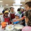 卵料理教室の様子です(写真)