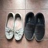 私の靴、約一年後の現在