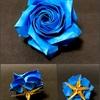 暑い日に、涼しげな「青いバラ」をどうぞ。 〜佐藤ローズ・AZURE BLUE〜
