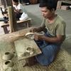 ミャンマー旅行 バガン 伝統工芸 漆塗り、砂絵  伝統芸能「操り人形劇」