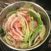 豚バラと白菜の鍋