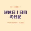 Day.219  GW休日1日目の日記(ゲーム/日焼け止め/ビューティの話)