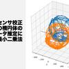 地磁気センサ校正のための楕円体のパラメータ推定における最小二乗法