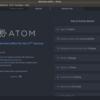 ubuntu18.04でAtomを入れ直した。