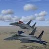 【Milviz】F-15E用 ACECOMBAT ZERO ガルム隊塗装(6に登場する複座ガルム仕様)