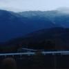 愛鷹山に雪が・・・