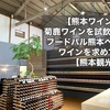 【熊本ワイン】菊鹿ワインを試飲!フードパル熊本へ、ワインを求めて【熊本観光】