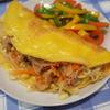 バインセオ(ベトナム風お好み焼き)にならなかった豚野菜炒め薄焼き玉子サンド