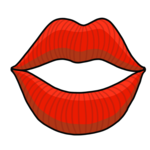 セクシーなかわいい唇 のイラスト